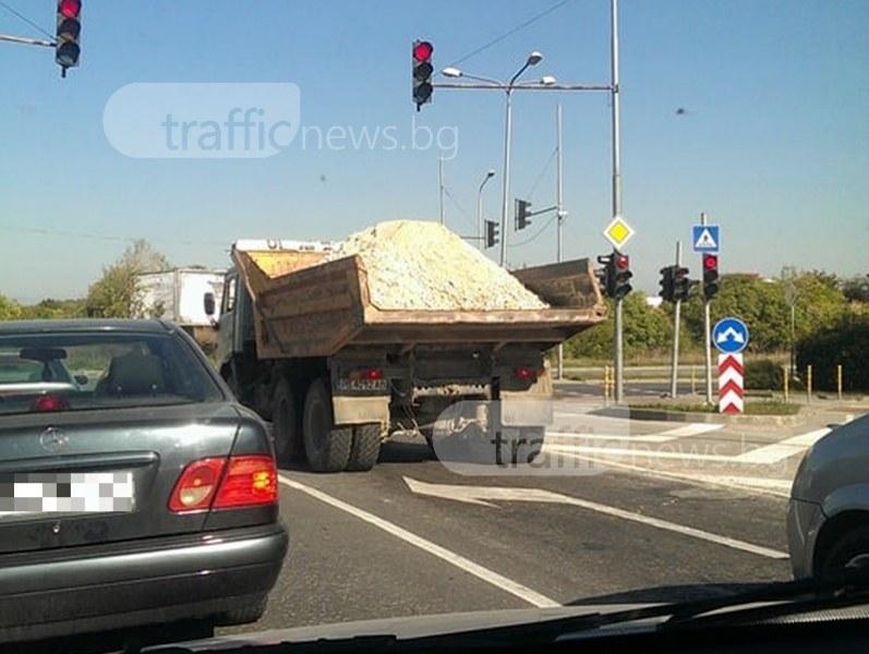 Глобиха камиони за замърсяване на пътното платно в Стара Загора